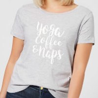 Yoga Coffee and Naps Women's T-Shirt - Grey - XXL - Grey - Yoga Gifts
