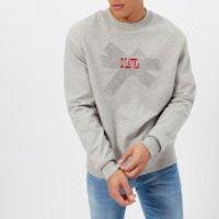 Diesel Mens Bay Sweatshirt - Light Grey Melange - M - Grey