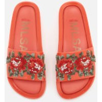 Melissa Women's Flower Pixel Beach Slide Sandals - Coral - UK 7 - Pink