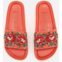 Melissa Women's Flower Pixel Beach Slide Sandals - Coral - UK 3 - Orange