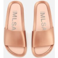 Melissa Womens Shine Beach Slide Sandals - Rose Gold - UK 4 - Pink