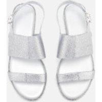 Melissa Womens Classy 19 Flat Sandals - Silver Glitter - UK 3 - Silver