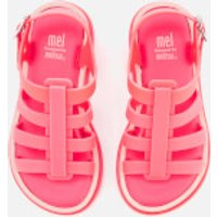 Mini Melissa Kids Flox 19 Sandals - Neon Pink - UK 2 Kids - Pink