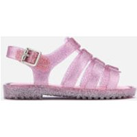 Mini Melissa Toddlers Flox 19 Sandals - Pink Glitter - UK 5 Toddler - Pink