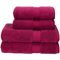 Christy Supreme Hygro Towel Range - Raspberry - Bath Sheet (Set of 2) - Pink