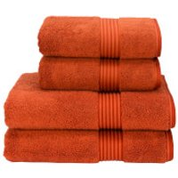 Christy Supreme Hygro Towel Range - Paprika - Bath Sheet (Set of 2) - Orange