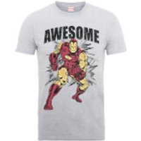Marvel Comics Iron Man Awesome Mens Grey T-Shirt - L - Grey