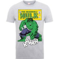 Marvel Comics The Incredible Hulk Krunch Distressed Mens Grey T-Shirt - L - Grey