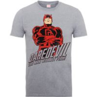Marvel Comics Dardevil The Man Without Fear Mens Grey T-Shirts - XL - Grey
