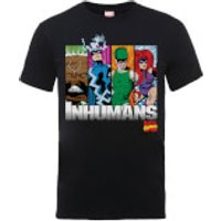 Marvel Comics Inhumans Mens Black T-Shirt - XL - Black