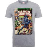 Marvel Comics The Black Panther Big Issue Men's Grey T-Shirt - M - Grey