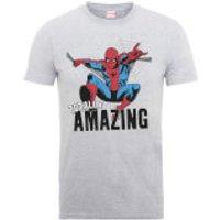 Marvel Comics Spiderman Totally Amazing Men's Grey T-Shirt - S - Grey