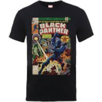 Marvel Comics The Black Panther Big Issue Mens Black T-Shirt - L - Black