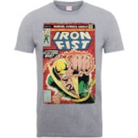 Marvel Comics Iron Fist Die By My Hand Men's Grey T-Shirt - L - Grey