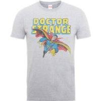 Marvel Doctor Strange Flying Mens Grey T-Shirt - S - Grey