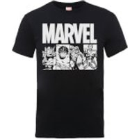 Marvel Comics Action Tiles Men's Black T-Shirt - M - Black