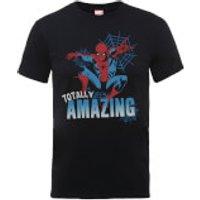 Marvel Comics Spider-Man Totally Amazing Men's Black T-Shirt - XL - Black