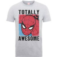 Marvel Comics Spiderman Totally Awesome Men's Grey T-Shirt - S - Grey