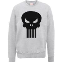 Marvel The Punisher Skull Logo Grey Mens Sweatshirt - M - Grey