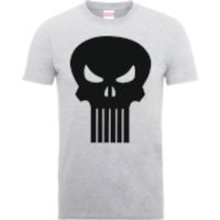 Marvel The Punisher Skull Logo Men's Grey T-Shirt - S - Grey