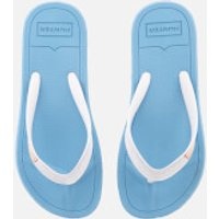 Hunter Womens Original Flip Flops - Forget Me Not/White - UK 4 - Blue