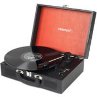 Intempo 3 Speed Bluetooth Turntable with Built In Speakers   Black