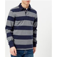 Joules Men's Onside Striped Rugby Shirt - French Navy Stripe - S - Blue