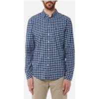 Joules Mens Welford Long Sleeve Shirt - Indigo Check - S - Blue