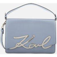 Karl Lagerfeld Womens K/Signature Big Shoulder Bag - Mistic Blue