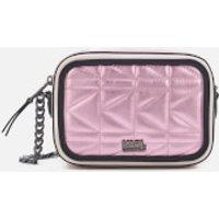 Karl Lagerfeld K/kuilted Pink Camera Bag - Metallic Pink
