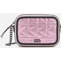 Karl Lagerfeld Womens K/Kuilted Pink Camera Bag - Metallic Pink