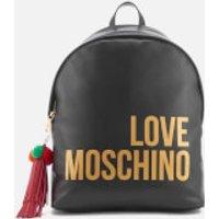 Love Moschino Womens Logo Backpack - Black