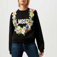 Love Moschino Women's Garland Sweatshirt - Black - IT 42/UK 10 - Black