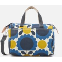 Orla Kiely Womens Laminated Scallop Flower Spot Small Zip Messenger Bag - Denim