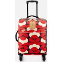 Orla Kiely Womens Spring Bloom Vinyl Travel Cabin Case - Ruby