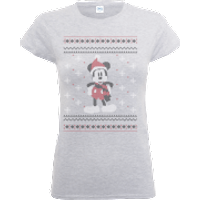 Disney Mickey Mouse Mickey Wrapped Up Womens Grey T-Shirt - XL - Grey