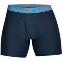 Under Armour Men's 2 Pack O-Series 6 Inch Novelty Boxerjock - Blue - S - Blue