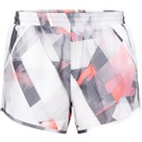 Under Armour Womens Fly By Printed Shorts - White - M - White