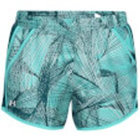Under Armour Womens Fly By Printed Shorts - Blue - M - Blue