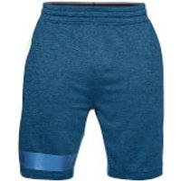 Under Armour Mens MK1 Terry Shorts - Blue - S - Blue