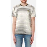 Lyle & Scott Mens Breton Stripe T-Shirt - Olive - XXL - Green