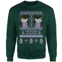 Jaiden Festive Forest Green Sweatshirt - XXL - Green
