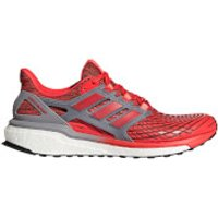 adidas Mens Energy Boost Running Shoes - Red/Grey - US 8.5/UK 8 - Red/Grey