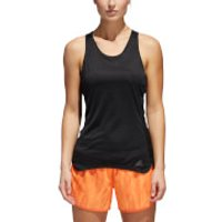 adidas Womens Response Cup Running Tank Top - Black/Grey - L - Black/Grey