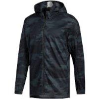 adidas Mens TKO Running Jacket - Black/Carbon - L - Black/Carbon