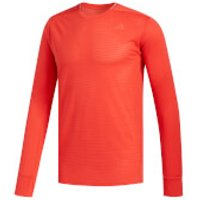 adidas Mens Supernova Long Sleeved Running Top - Red - XL - Red