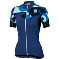 Sportful Women's Primavera Jersey - Blue Twilight/Electric Blue - XS - Blue Twilight/Electric Blue