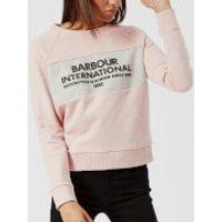 Barbour International Womens Triple Sweatshirt - Pale Pink Marl - UK 12 - Pink