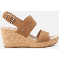 UGG Women's Elena II Double Strap Wedged Sandals - Chestnut - UK 4.5 - Tan