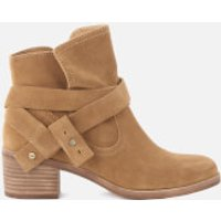 UGG Womens Elora Suede Heeled Ankle Boots - Chestnut - UK 3.5 - Tan